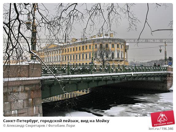 Санкт-Петербург, городской пейзаж, вид на Мойку, фото № 196346, снято 4 февраля 2008 г. (c) Александр Секретарев / Фотобанк Лори