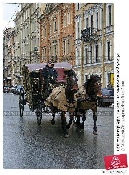 Санкт-Петербург. Карета на Миллионной улице, фото № 236802, снято 22 февраля 2017 г. (c) Александр Секретарев / Фотобанк Лори