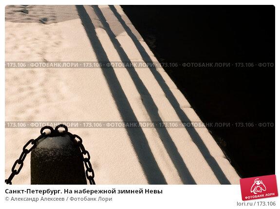 Санкт-Петербург. На набережной зимней Невы, эксклюзивное фото № 173106, снято 10 января 2008 г. (c) Александр Алексеев / Фотобанк Лори
