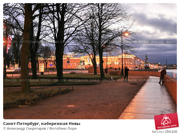 Санкт-Петербург, набережная Невы, фото № 204626, снято 22 декабря 2007 г. (c) Александр Секретарев / Фотобанк Лори