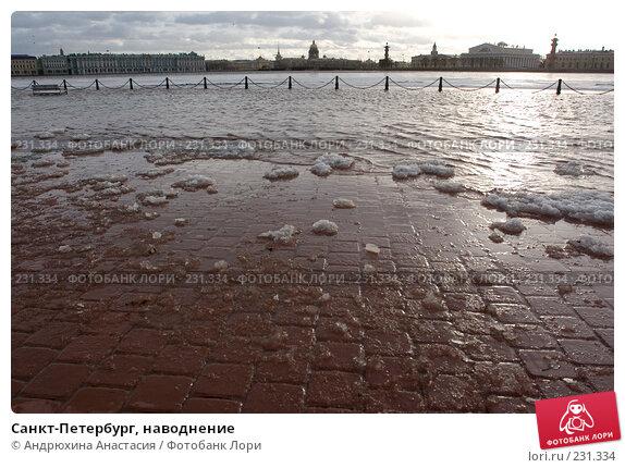 Санкт-Петербург, наводнение, фото № 231334, снято 3 февраля 2008 г. (c) Андрюхина Анастасия / Фотобанк Лори