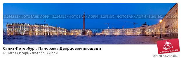 Купить «Санкт-Петербург. Панорама Дворцовой площади», эксклюзивное фото № 3266862, снято 15 февраля 2012 г. (c) Литвяк Игорь / Фотобанк Лори