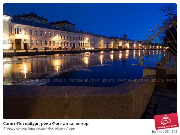 Санкт-Петербург, река Фонтанка, вечер, фото № 231342, снято 3 февраля 2008 г. (c) Андрюхина Анастасия / Фотобанк Лори