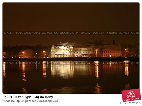 Санкт-Петербург. Вид на Неву, фото № 207962, снято 17 декабря 2005 г. (c) Александр Секретарев / Фотобанк Лори