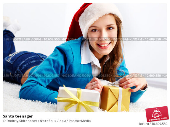 Santa teenager. Стоковое фото, фотограф Dmitriy Shironosov / PantherMedia / Фотобанк Лори