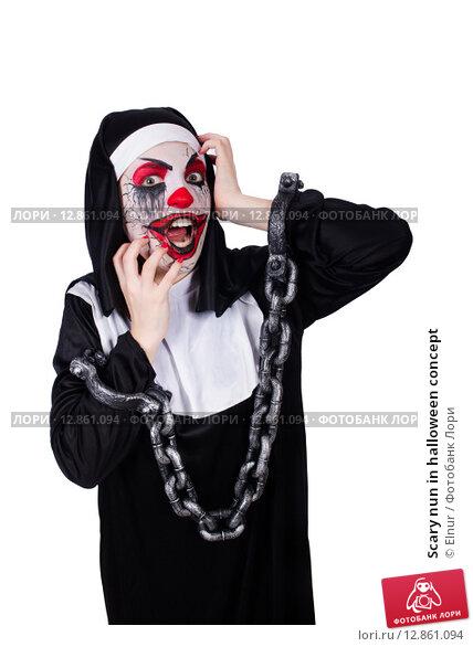 Купить «Scary nun in halloween concept», фото № 12861094, снято 2 апреля 2013 г. (c) Elnur / Фотобанк Лори
