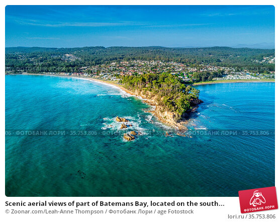Scenic aerial views of part of Batemans Bay, located on the south... Стоковое фото, фотограф Zoonar.com/Leah-Anne Thompson / age Fotostock / Фотобанк Лори