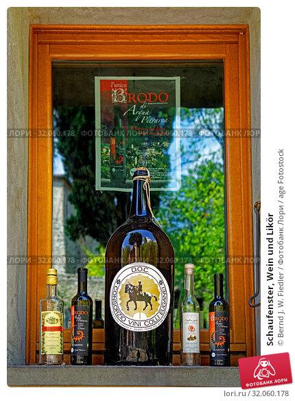 Schaufenster, Wein und Likör. Стоковое фото, фотограф Bernd J. W. Fiedler / age Fotostock / Фотобанк Лори