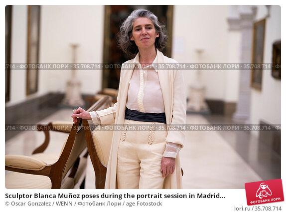 Sculptor Blanca Muñoz poses during the portrait session in Madrid... Редакционное фото, фотограф Oscar Gonzalez / WENN / age Fotostock / Фотобанк Лори
