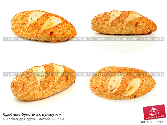 Сдобные булочки с кунжутом, фото № 115990, снято 14 сентября 2007 г. (c) Александр Паррус / Фотобанк Лори