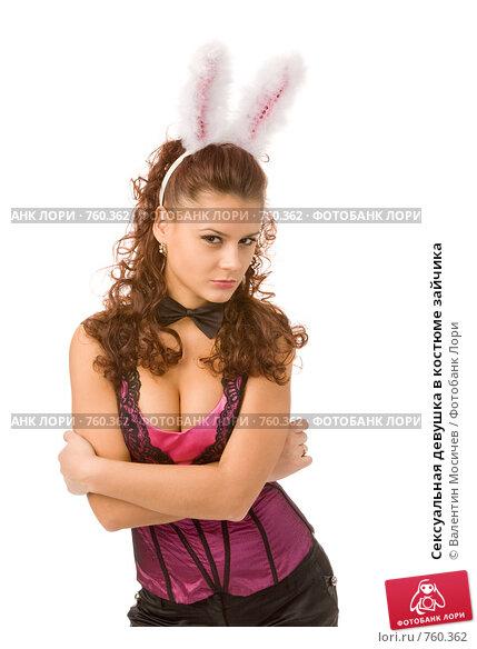 Секси девушка с ушками зайчика