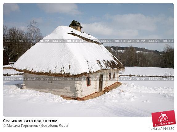 Сельская хата под снегом, фото № 144650, снято 16 марта 2005 г. (c) Максим Горпенюк / Фотобанк Лори