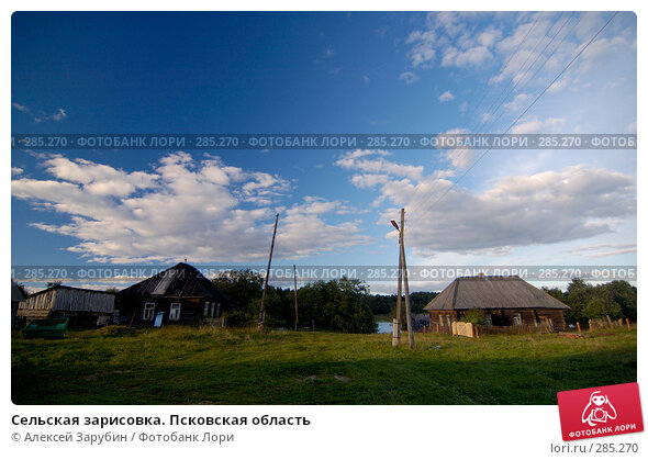 Сельская зарисовка. Псковская область, фото № 285270, снято 8 сентября 2007 г. (c) Алексей Зарубин / Фотобанк Лори