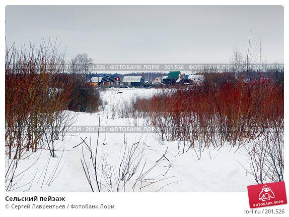 Сельский пейзаж, фото № 201526, снято 9 февраля 2008 г. (c) Сергей Лаврентьев / Фотобанк Лори