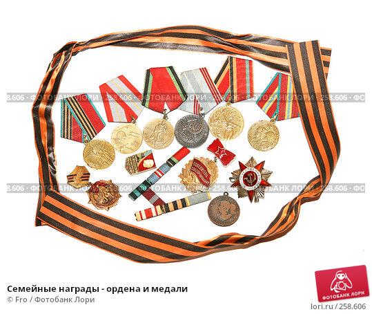 Семейные награды - ордена и медали, фото № 258606, снято 15 апреля 2008 г. (c) Fro / Фотобанк Лори