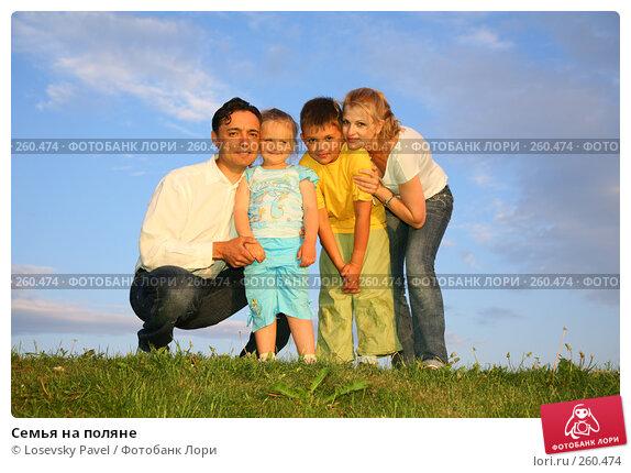 Семья на поляне, фото № 260474, снято 30 мая 2017 г. (c) Losevsky Pavel / Фотобанк Лори