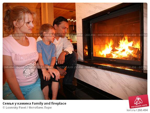 Семья у камина Family and fireplace, фото № 260494, снято 21 февраля 2017 г. (c) Losevsky Pavel / Фотобанк Лори