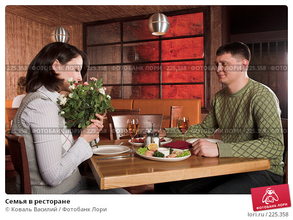 Семья в ресторане, фото № 225358, снято 25 февраля 2008 г. (c) Коваль Василий / Фотобанк Лори