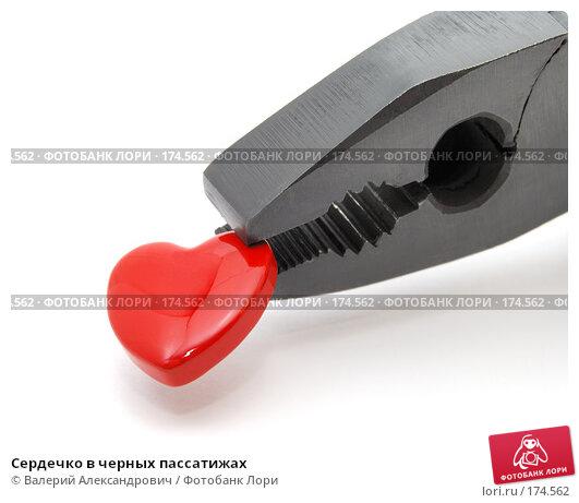 Сердечко в черных пассатижах, фото № 174562, снято 12 января 2008 г. (c) Валерий Александрович / Фотобанк Лори