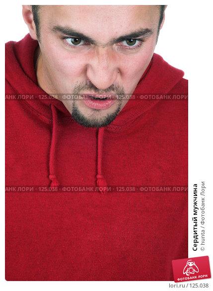 Сердитый мужчина, фото № 125038, снято 12 октября 2007 г. (c) hunta / Фотобанк Лори
