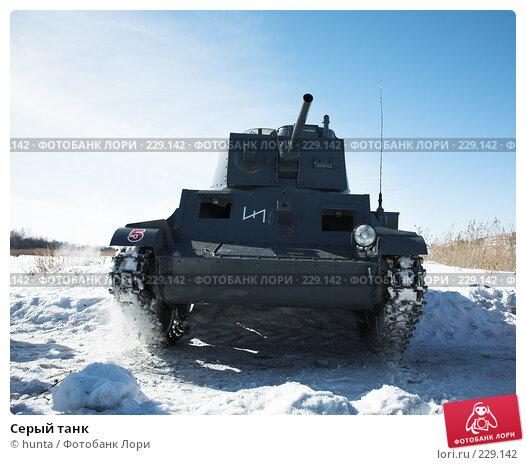 Серый танк, фото № 229142, снято 16 марта 2008 г. (c) hunta / Фотобанк Лори