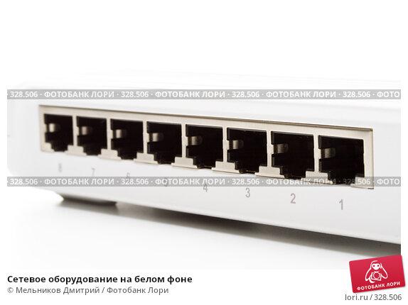 Сетевое оборудование на белом фоне, фото № 328506, снято 22 мая 2008 г. (c) Мельников Дмитрий / Фотобанк Лори
