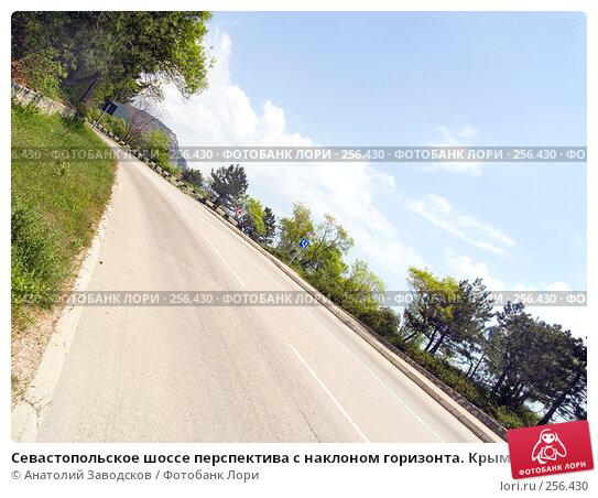 Севастопольское шоссе перспектива с наклоном горизонта. Крым, фото № 256430, снято 16 мая 2006 г. (c) Анатолий Заводсков / Фотобанк Лори