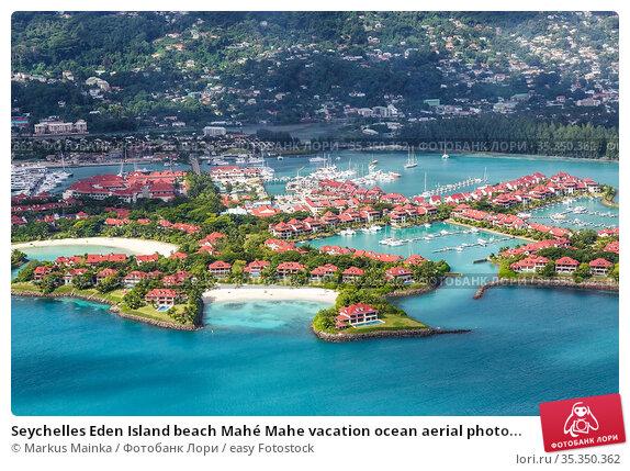 Seychelles Eden Island beach Mahé Mahe vacation ocean aerial photo... Стоковое фото, фотограф Markus Mainka / easy Fotostock / Фотобанк Лори