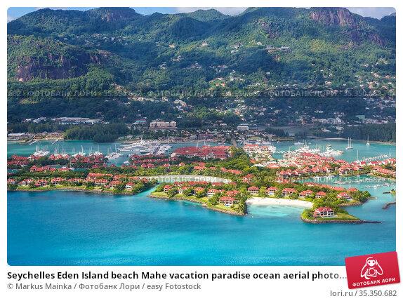 Seychelles Eden Island beach Mahe vacation paradise ocean aerial photo... Стоковое фото, фотограф Markus Mainka / easy Fotostock / Фотобанк Лори
