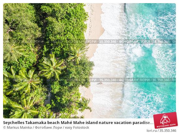 Seychelles Takamaka beach Mahé Mahe island nature vacation paradise... Стоковое фото, фотограф Markus Mainka / easy Fotostock / Фотобанк Лори