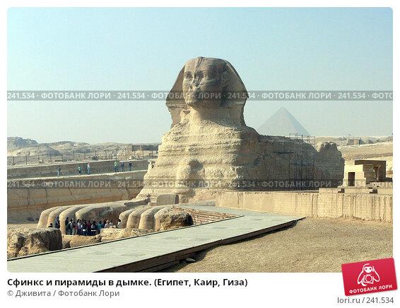 Сфинкс и пирамиды в дымке. (Египет, Каир, Гиза), фото № 241534, снято 7 января 2008 г. (c) Дживита / Фотобанк Лори
