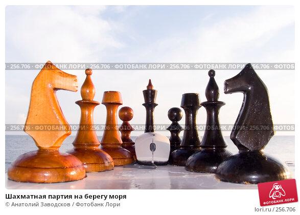 Шахматная партия на берегу моря, фото № 256706, снято 23 сентября 2006 г. (c) Анатолий Заводсков / Фотобанк Лори