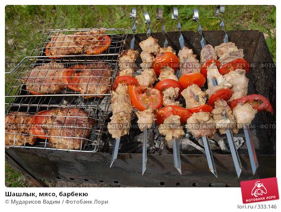 Шашлык, мясо, барбекю, фото № 333146, снято 15 июня 2008 г. (c) Мударисов Вадим / Фотобанк Лори