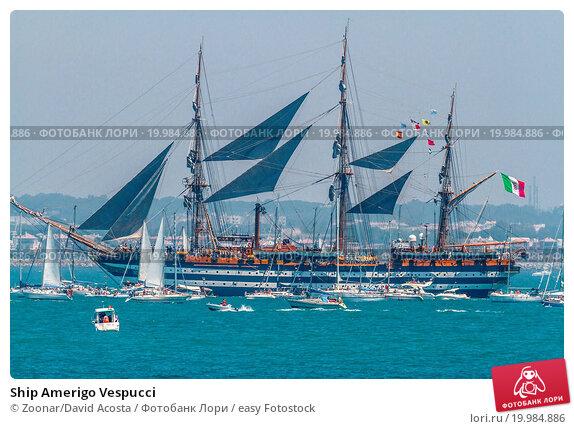 Купить «Ship Amerigo Vespucci», фото № 19984886, снято 12 февраля 2020 г. (c) easy Fotostock / Фотобанк Лори