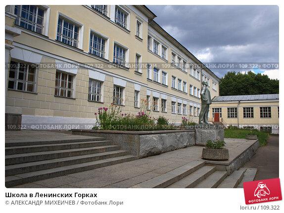 Купить «Школа в Ленинских Горках», фото № 109322, снято 21 июля 2007 г. (c) АЛЕКСАНДР МИХЕИЧЕВ / Фотобанк Лори