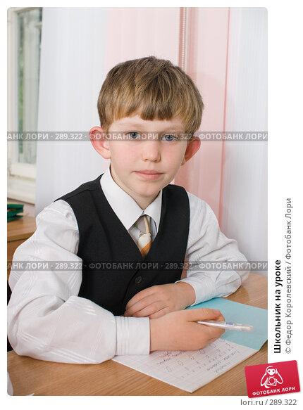Школьник на уроке, фото № 289322, снято 25 апреля 2008 г. (c) Федор Королевский / Фотобанк Лори