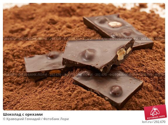 Шоколад с орехами, фото № 292670, снято 17 ноября 2005 г. (c) Кравецкий Геннадий / Фотобанк Лори