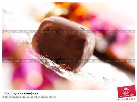 Купить «Шоколадная конфета», фото № 292662, снято 15 сентября 2005 г. (c) Кравецкий Геннадий / Фотобанк Лори