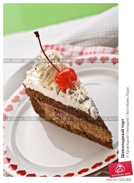 Шоколадный торт, фото № 232402, снято 3 декабря 2005 г. (c) Кравецкий Геннадий / Фотобанк Лори