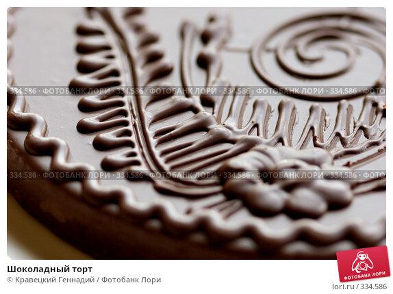 Купить «Шоколадный торт», фото № 334586, снято 29 мая 2005 г. (c) Кравецкий Геннадий / Фотобанк Лори
