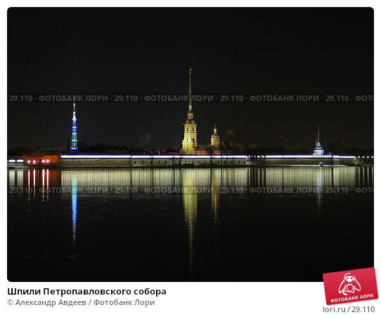 Шпили Петропавловского собора, фото № 29110, снято 22 апреля 2005 г. (c) Александр Авдеев / Фотобанк Лори