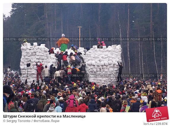 Штурм Снежной крепости на Масленице, фото № 239874, снято 9 марта 2008 г. (c) Sergey Toronto / Фотобанк Лори