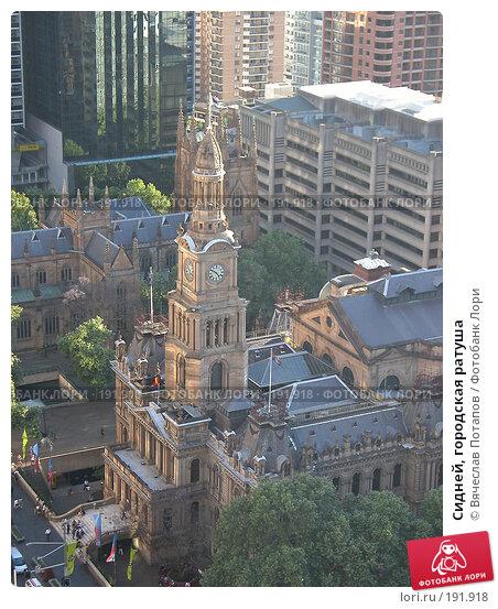 Сидней, городская ратуша, фото № 191918, снято 12 октября 2006 г. (c) Вячеслав Потапов / Фотобанк Лори