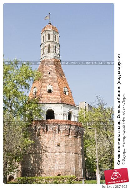 Симонов монастырь, Солевая башня (вид снаружи), фото № 287602, снято 29 апреля 2008 г. (c) Эдуард Межерицкий / Фотобанк Лори