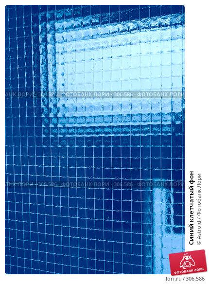 Синий клетчатый фон, фото № 306586, снято 11 мая 2008 г. (c) Astroid / Фотобанк Лори