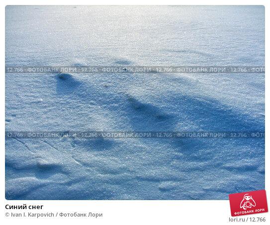 Синий снег, фото № 12766, снято 29 января 2006 г. (c) Ivan I. Karpovich / Фотобанк Лори