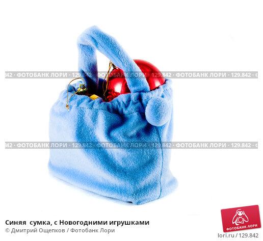 Синяя  сумка, с Новогодними игрушками, фото № 129842, снято 22 ноября 2006 г. (c) Дмитрий Ощепков / Фотобанк Лори