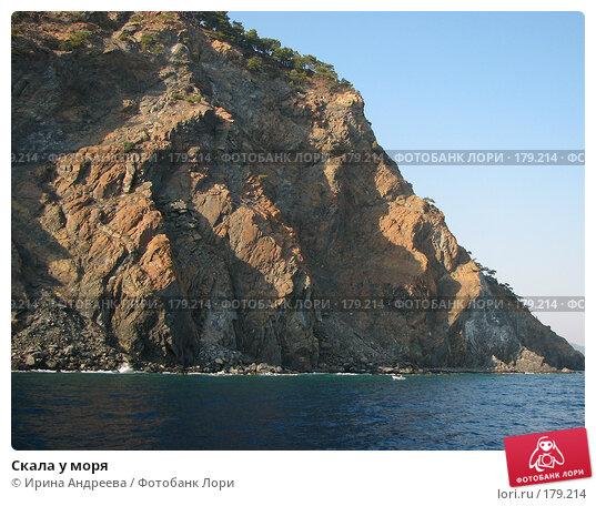 Скала у моря, фото № 179214, снято 31 июля 2006 г. (c) Ирина Андреева / Фотобанк Лори
