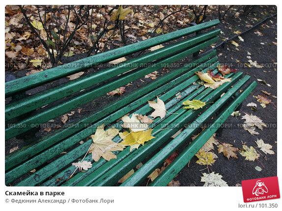 Скамейка в парке, фото № 101350, снято 15 октября 2007 г. (c) Федюнин Александр / Фотобанк Лори