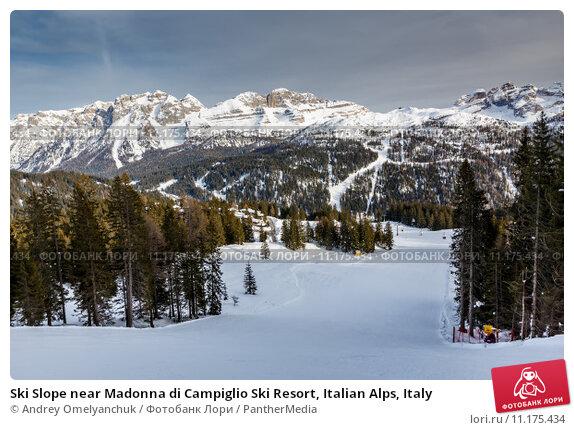Купить «Ski Slope near Madonna di Campiglio Ski Resort, Italian Alps, Italy», фото № 11175434, снято 23 июля 2019 г. (c) PantherMedia / Фотобанк Лори